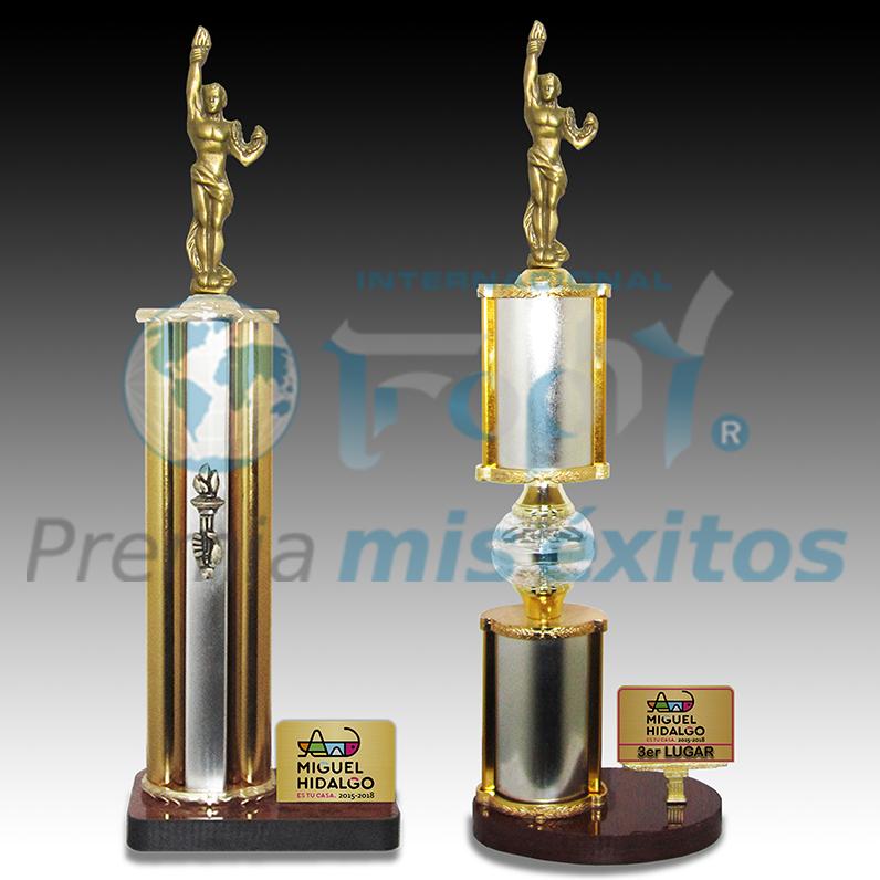 Trofeos de excelente calidad recomendados para grandes eventos y competiciones.