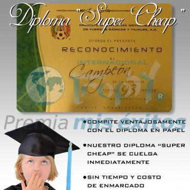 Diploma súper cheap sin base